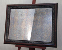 Состаренное зеркало (морена) в деревянном испанском багете