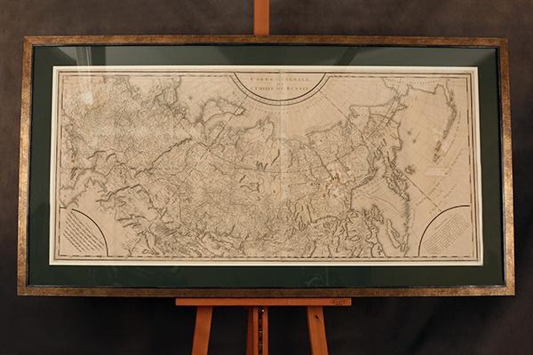Оформление антикварной карты 1787 года