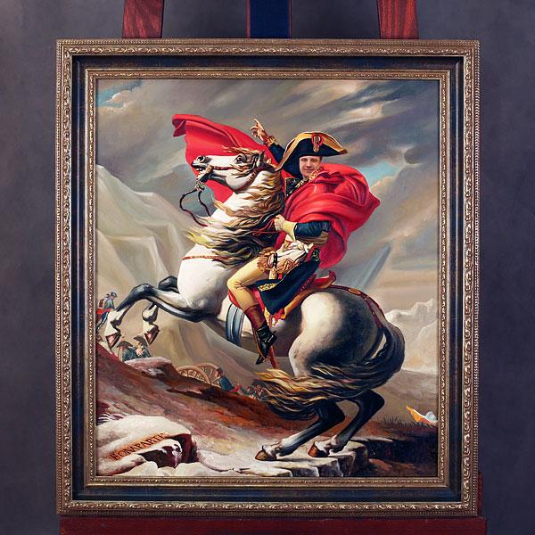 Коллаж по фото мужчины в образе Наполеона