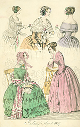 Постер Fashions for August 1847 1