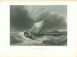 Постер Dutch Boats in a Gale 1