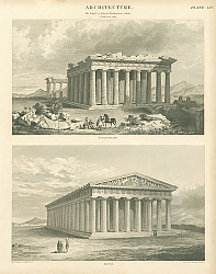 Постер Architecture. The Temple of Minerva Parthenon at Athens. (North-west view.)